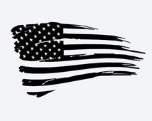 Tattered American Flag Vehicle Decal Fully Personalized You Choose Size