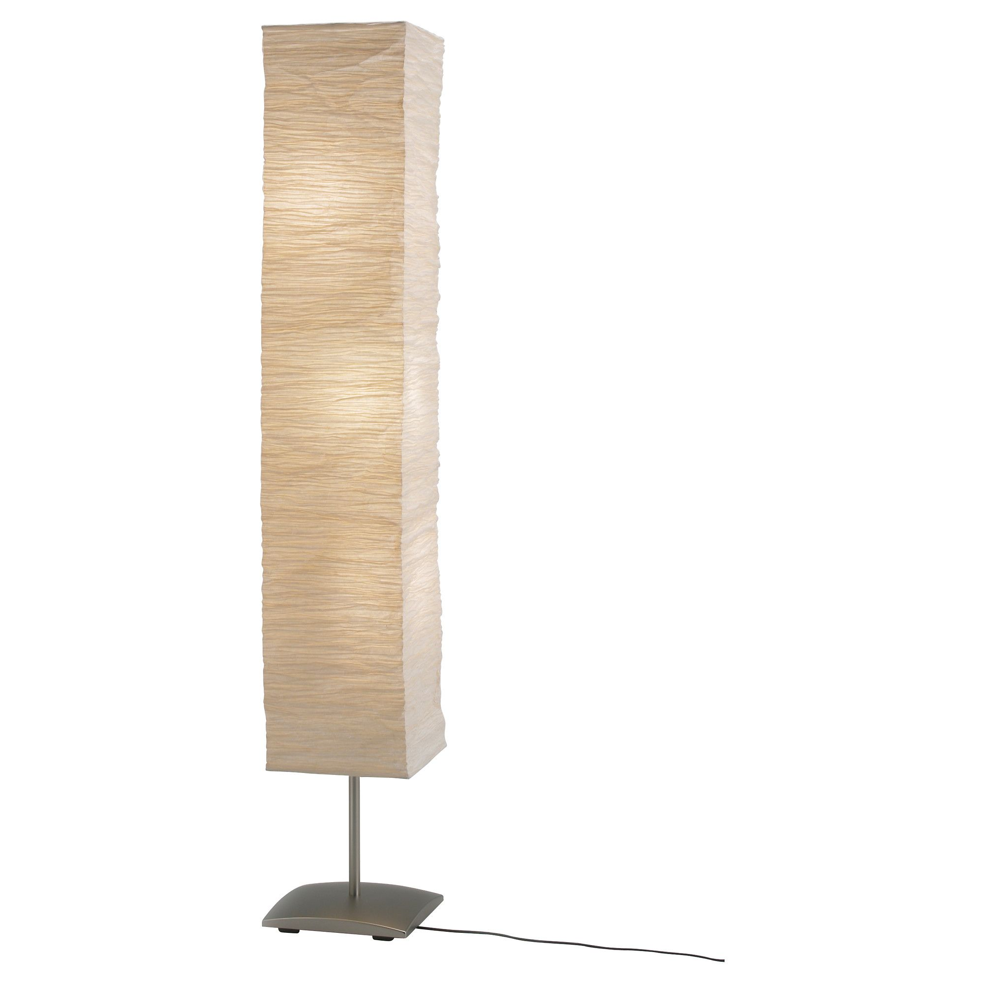 Paper Shade Floor Lamp Entrancing Orgel Vreten Floor Lamp Natural Steel $1999 Article Number Decorating Inspiration