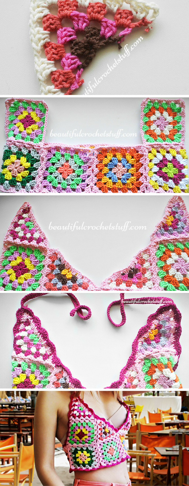 Excelente Patrón De Tapa De La Cosecha Crochet Libre Viñeta - Manta ...