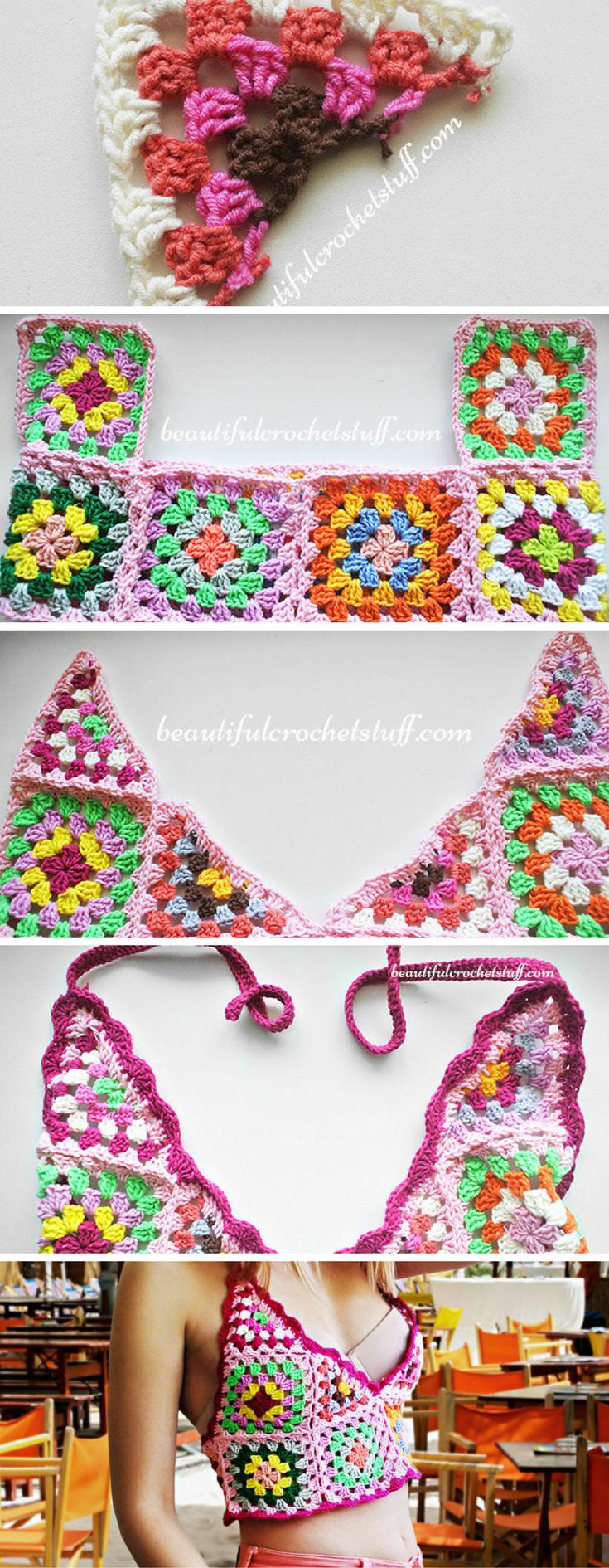 Crochet Crop Top Pattern | Check | Pinterest | Tejido, Blusas y ...