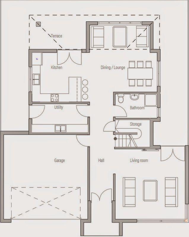 Planos De Casa De 3 Dormitorios 2 Plantas Casas De Dos Pisos Planos De Casas Piso Moderna