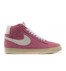 nike blazer high trainers chaussures vintage suede femme rose blanc soldes 20