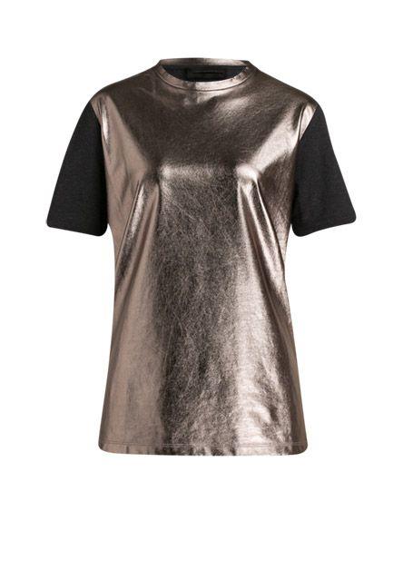 Modisches Metallic-Finish trifft auf klassische, cleane Schnittform - ein absolutes Highlight für deine Garderobe!
