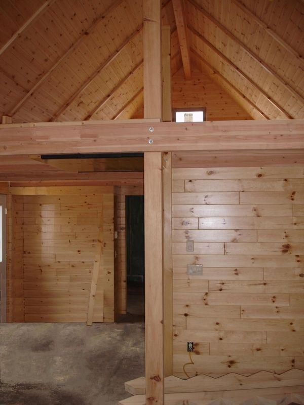 Faux Log Cabin Interior Walls | Interior Log Paneling ...