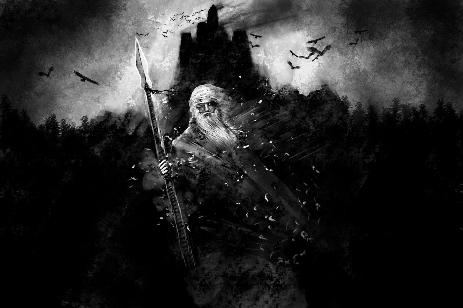 One Day At A Time Odin And Loki Norse Odin Mythology Odin