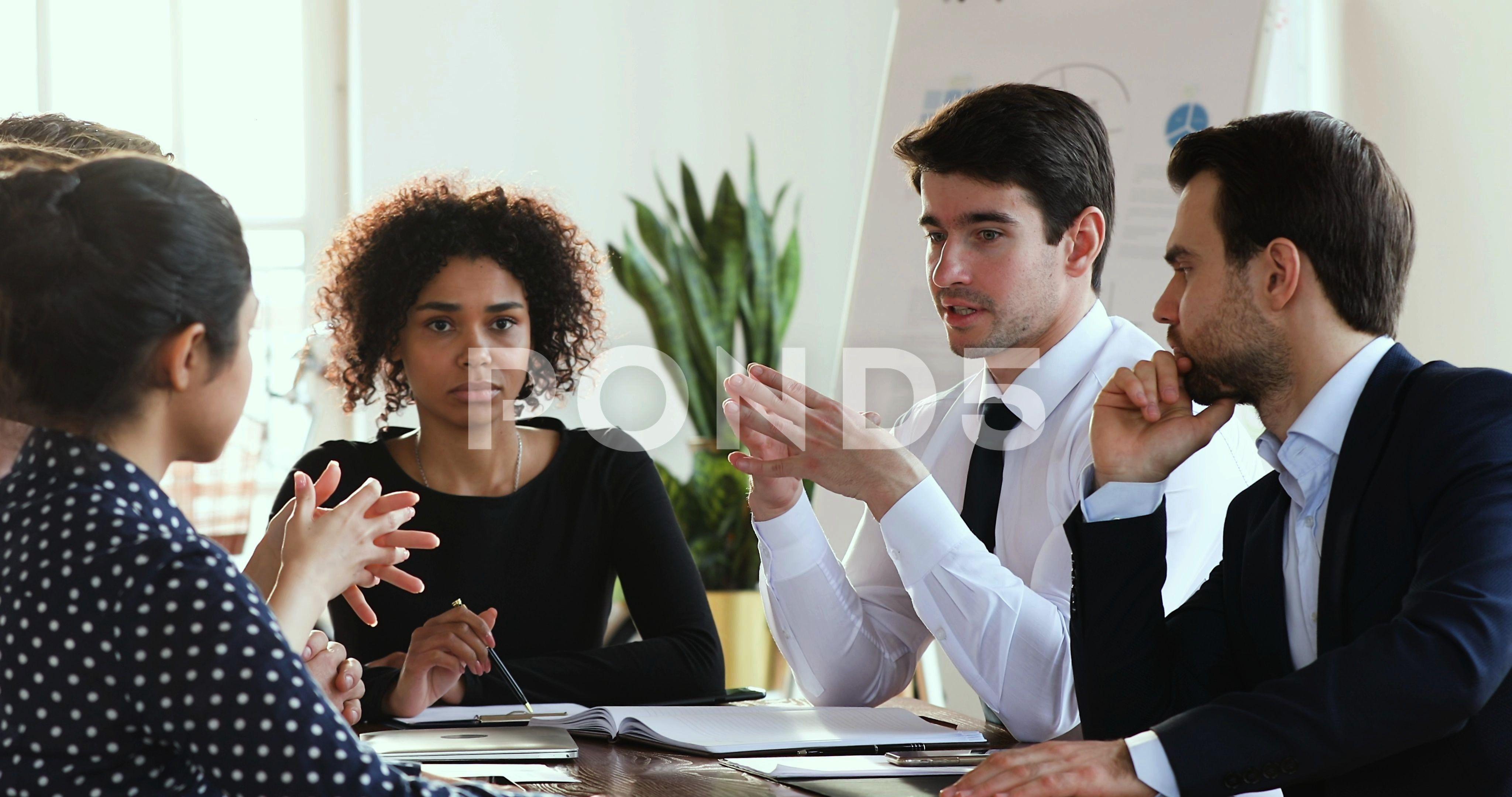 businessman leader explain corporate strategy speak at group meeting explaincorporateleaderConfidentConfident businessman leader explain corporate strategy speak at group...