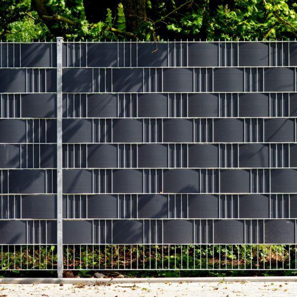 PVC Sichtschutzstreifen Doppelstabmattenzaun, Longlife