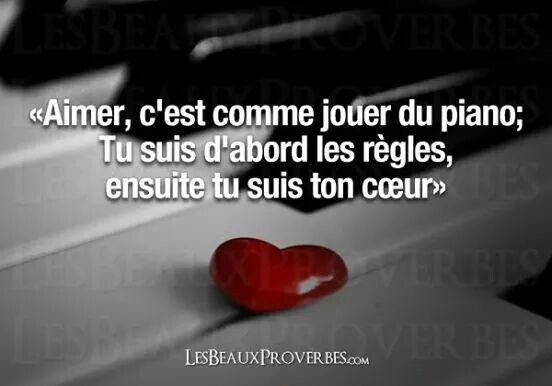 Citationdujour Citation Amour Piano Musique Regle Coeur