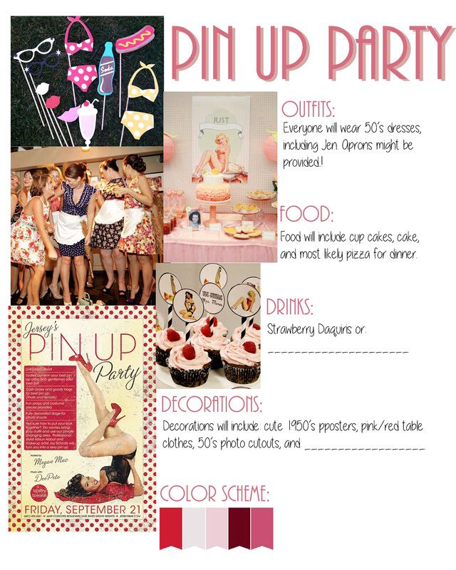 pin up party1950s housewife bachelorette theme