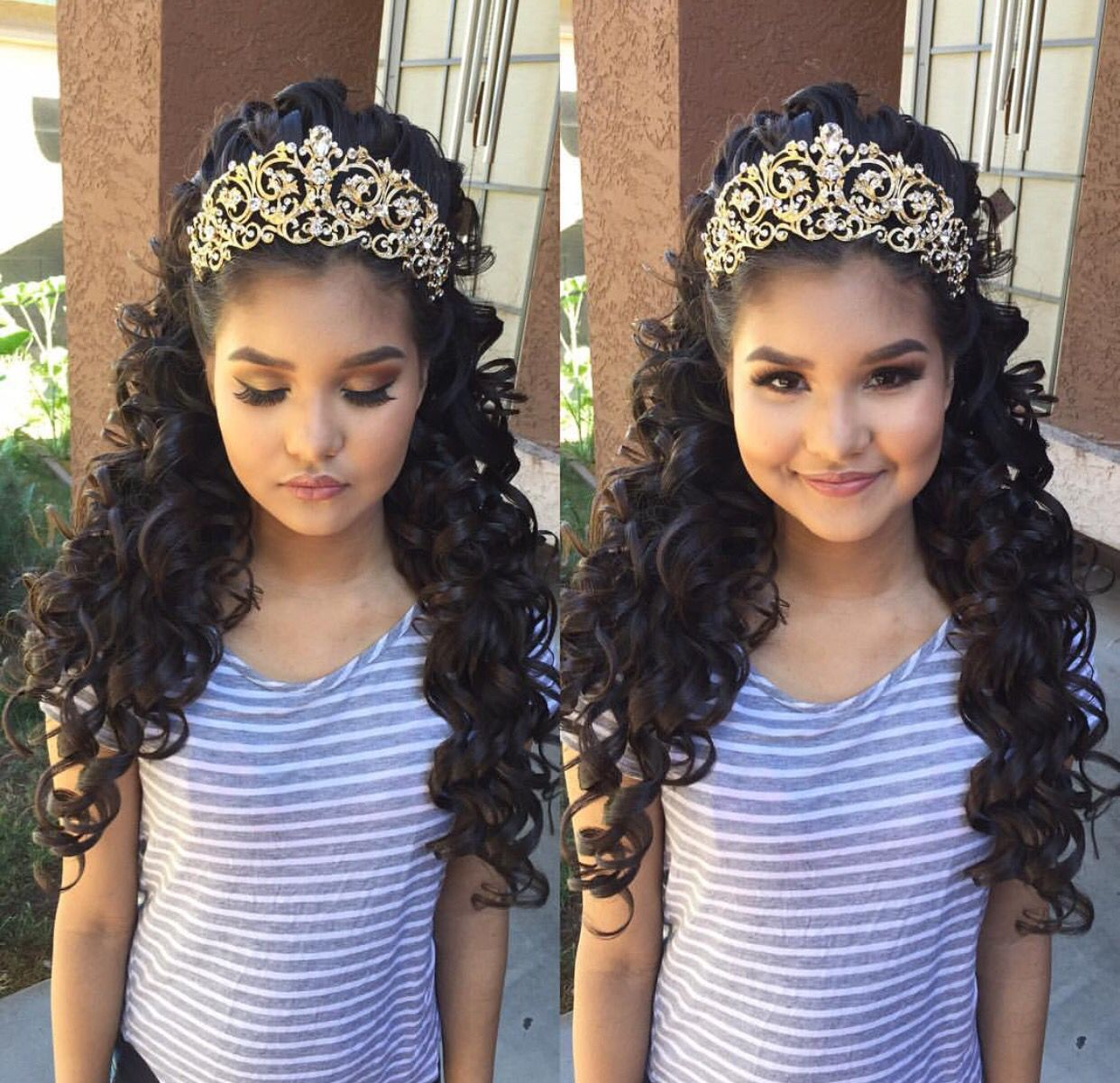 xovonneyy | hair | quinceanera hairstyles, quince hairstyles