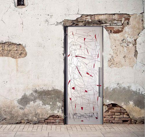 Puerta abatible de cristal arenada puertas cristal decorativas doors glass door y entrance Puerta cristal abatible
