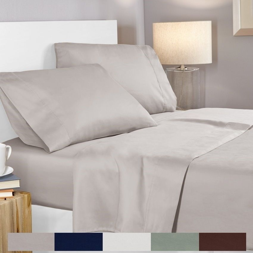 100 Egyptian Cotton 400 Thread Count 4 Piece Deep Pocket Bed Sheet Set 20 Off Code P20laborday 25 Fitted Bed Sheets Bed Sheet Sets Cotton Bed Sheet Sets 100 egyptian cotton percale sheets