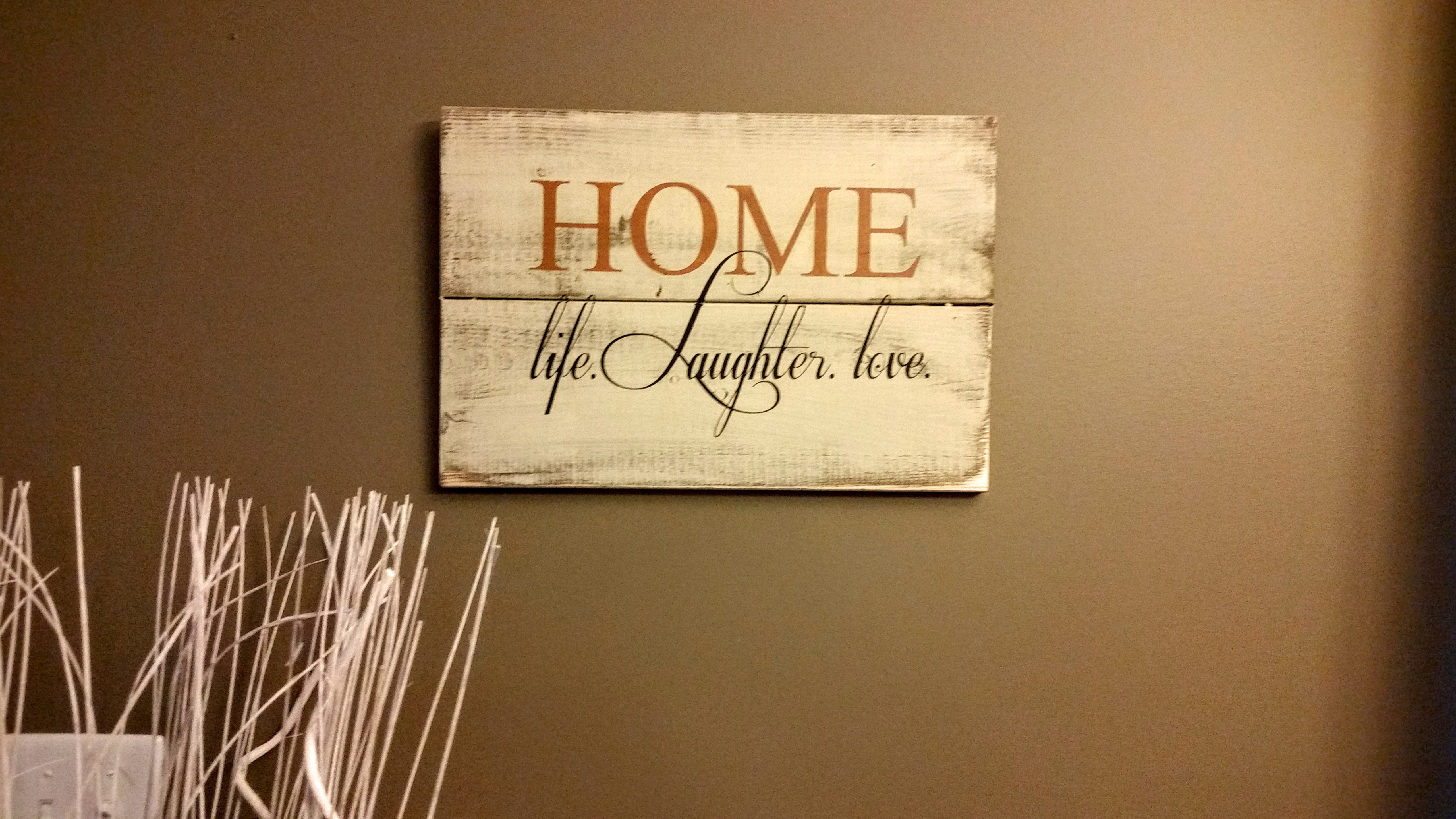 Home - Life, Love, Laughter $20 | Wood Signs by Wood Finds ...