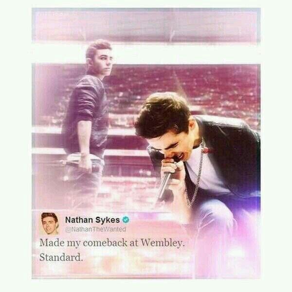 ITS BEEN A YEARS SINCE MY BABYS COMEBACK AT WEMBLEY STADIUM IM SO PROUD OF YOU NATH!!!! *CRIES IN A CORNER*