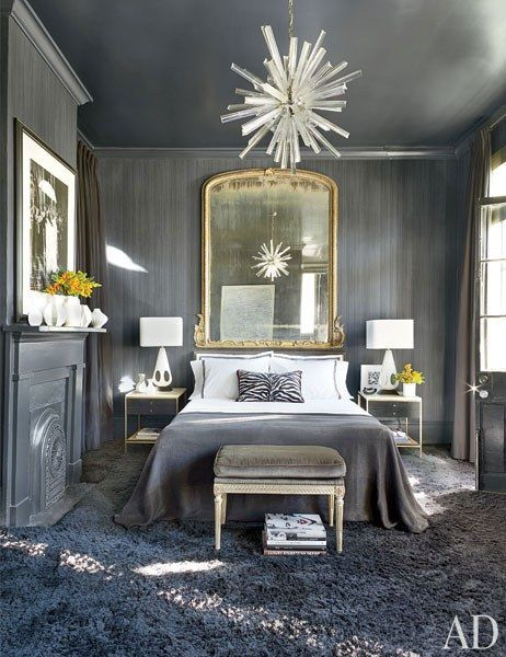 Gray Bedroom & Living Room Paint Color Ideas Photos | Architectural Digest