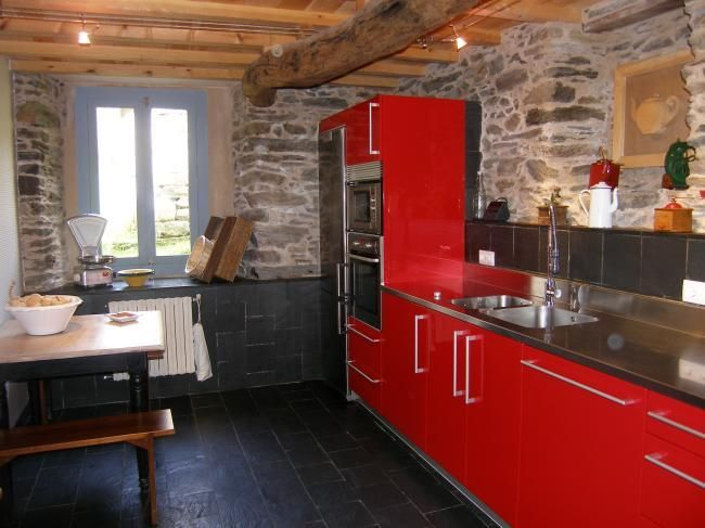 kitchen rustic home