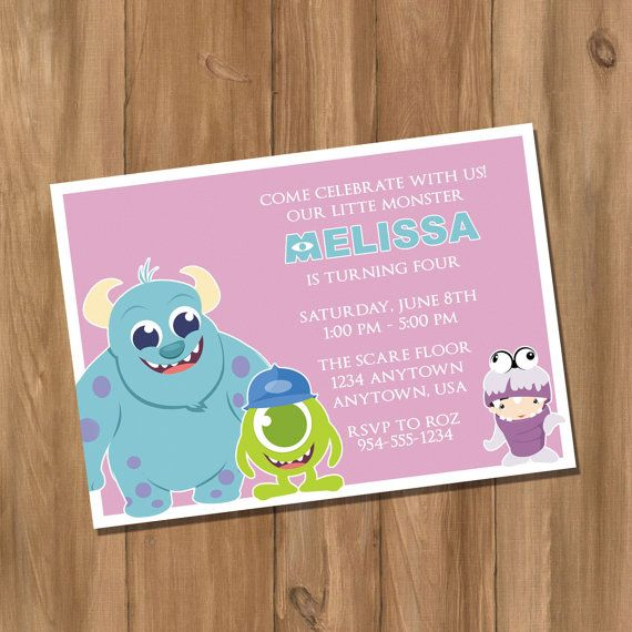 Monsters Inc Monsters University Inspired Birthday Party ...