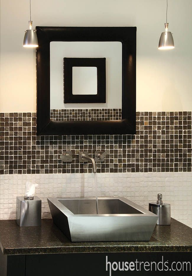 Stainless Steel Sink Stands Out In An Already Striking Design