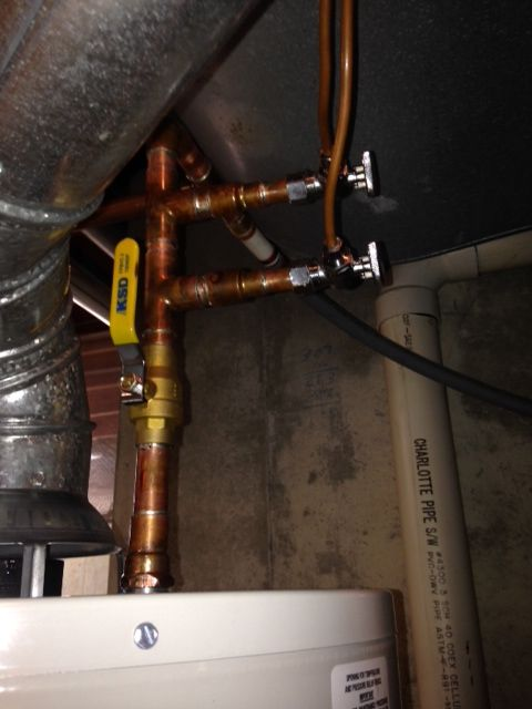 Installing Saddle Valves For The Humidifier And Ice Maker Box The Picture Shows How The 1 4 Supply Lines Should Water Heater Installation Licensed Plumber Humidifier