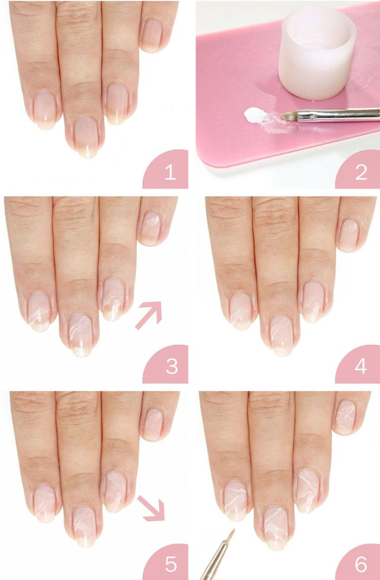 rosenquarz nägel selber machen anleitung mit dünnem pinsel #nails