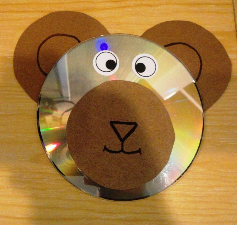 Teddy Bear Cd Craft Crafts General Pinterest Cd