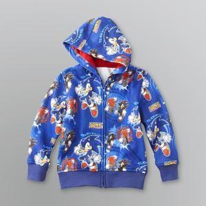 Boy S Sonic The Hedgehog Fleece Hoodie Sears Hoodies Boys Hoodies Boys Jacket