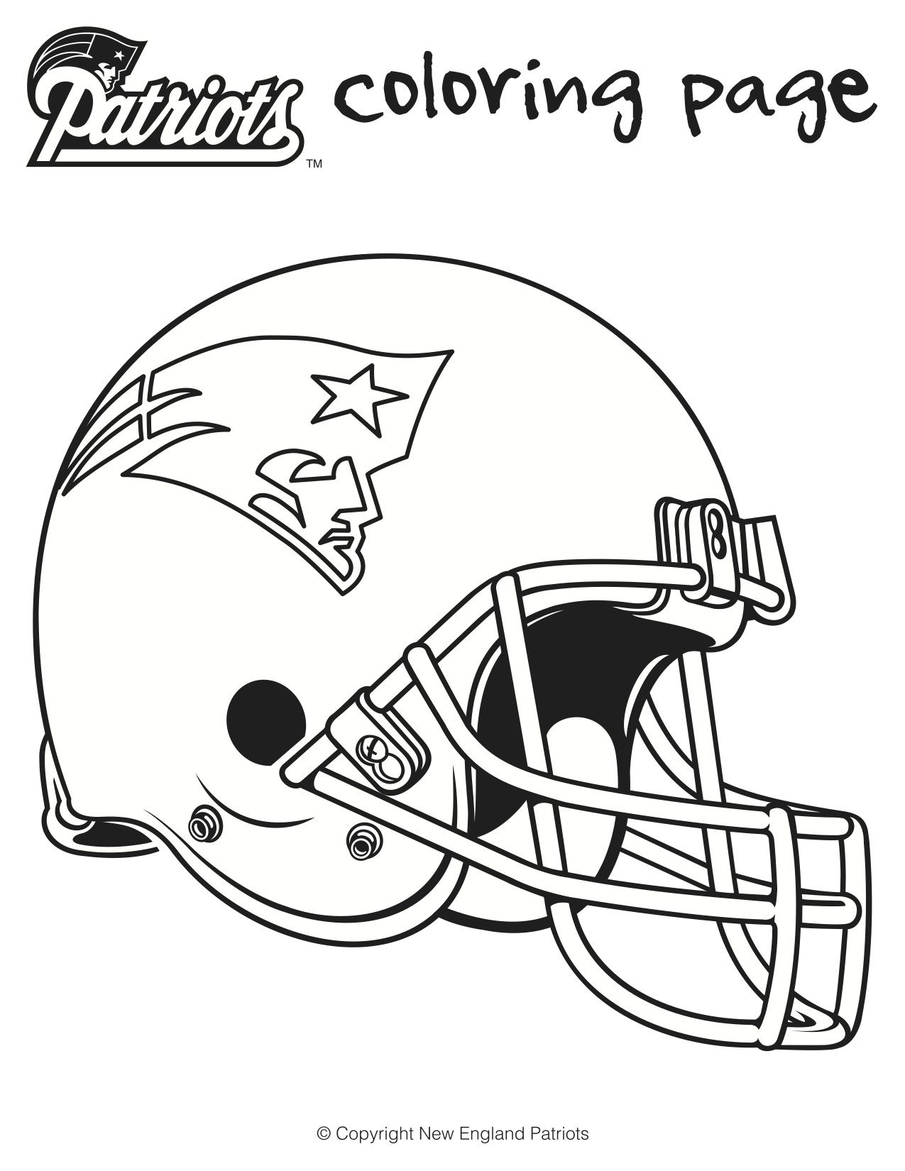 Here are is a printable Patriots football coloring sheets for kids ...