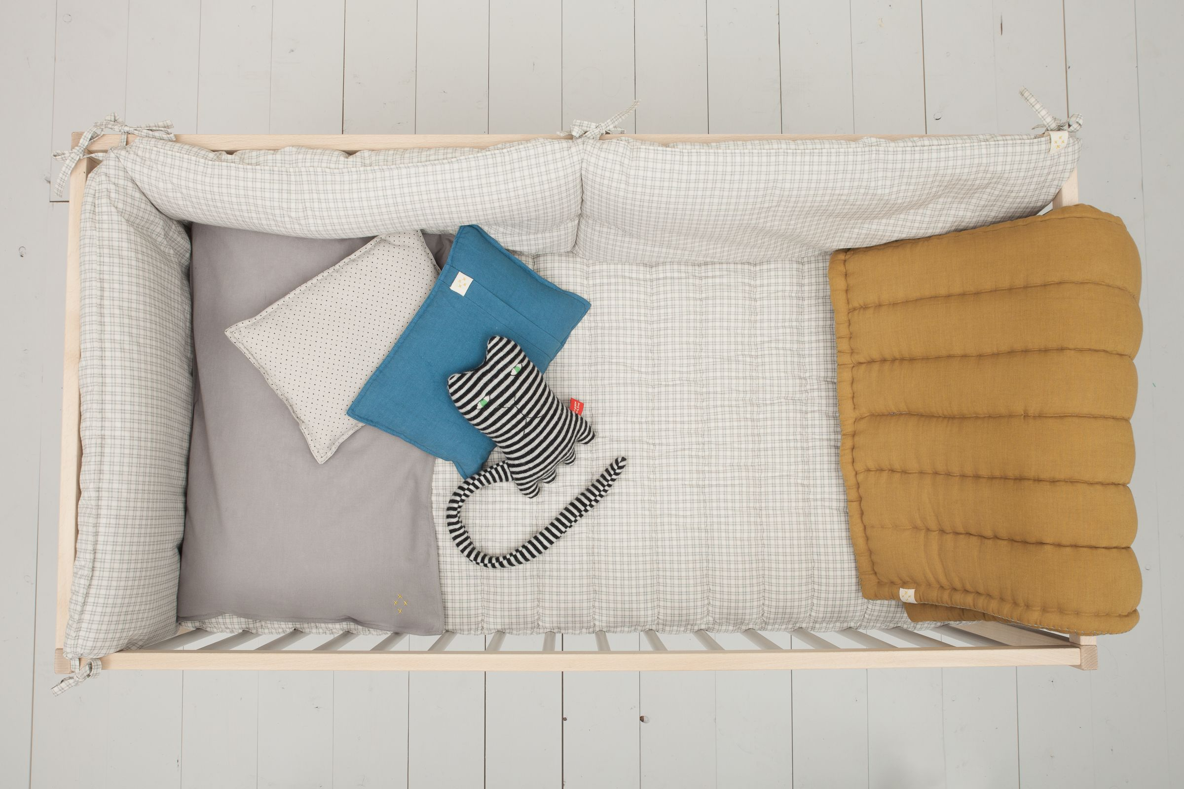 Accessorise Our Camomile London Check Nursery Bedding With Flashes Of