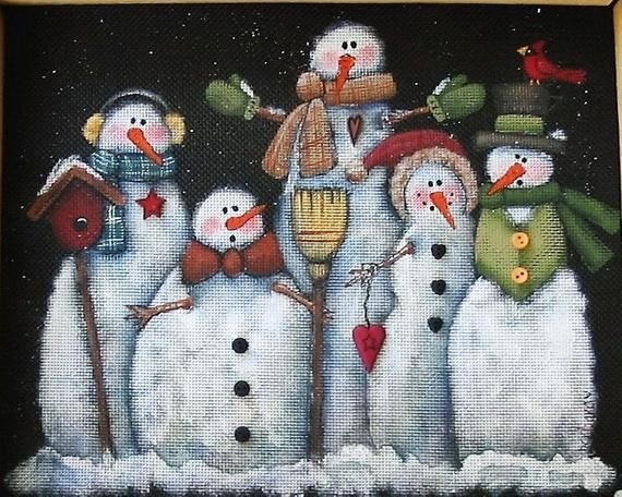Tole Painting Pattern, Glacier Men or Snowmen, Group of Snowmen, White Snowmen, Instructional Pattern, Five White Snowmen, Winter Scene, DYI This pattern is sized for a 8 x 10 frame. This pattern is an original design for tole painters or any decorative painter. It includes one #tolepainting