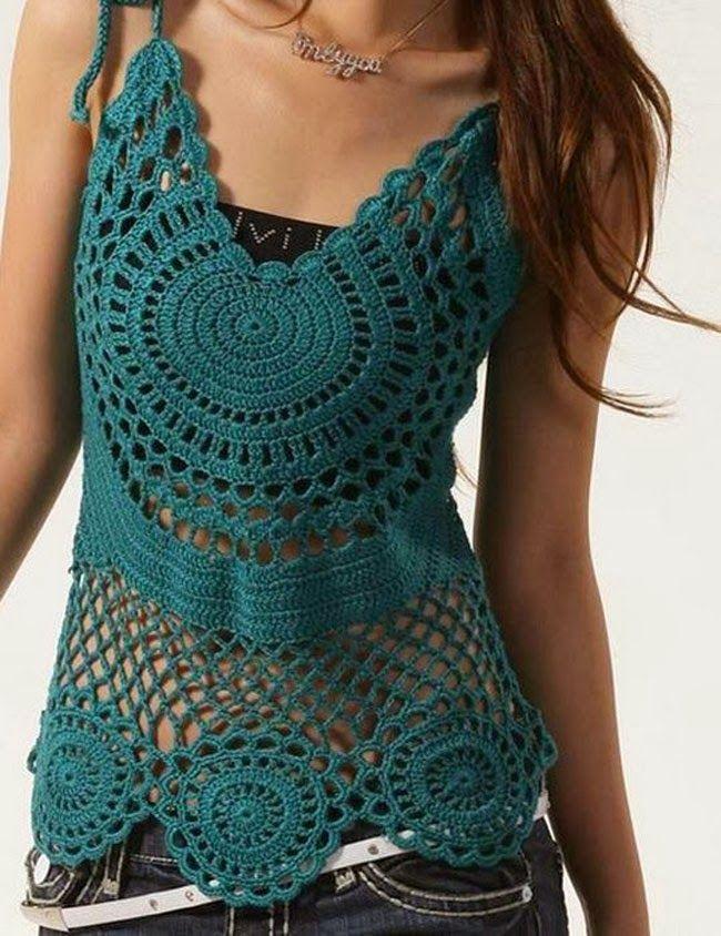 patrones de blusas tejidas a crochet gratis   buscar con