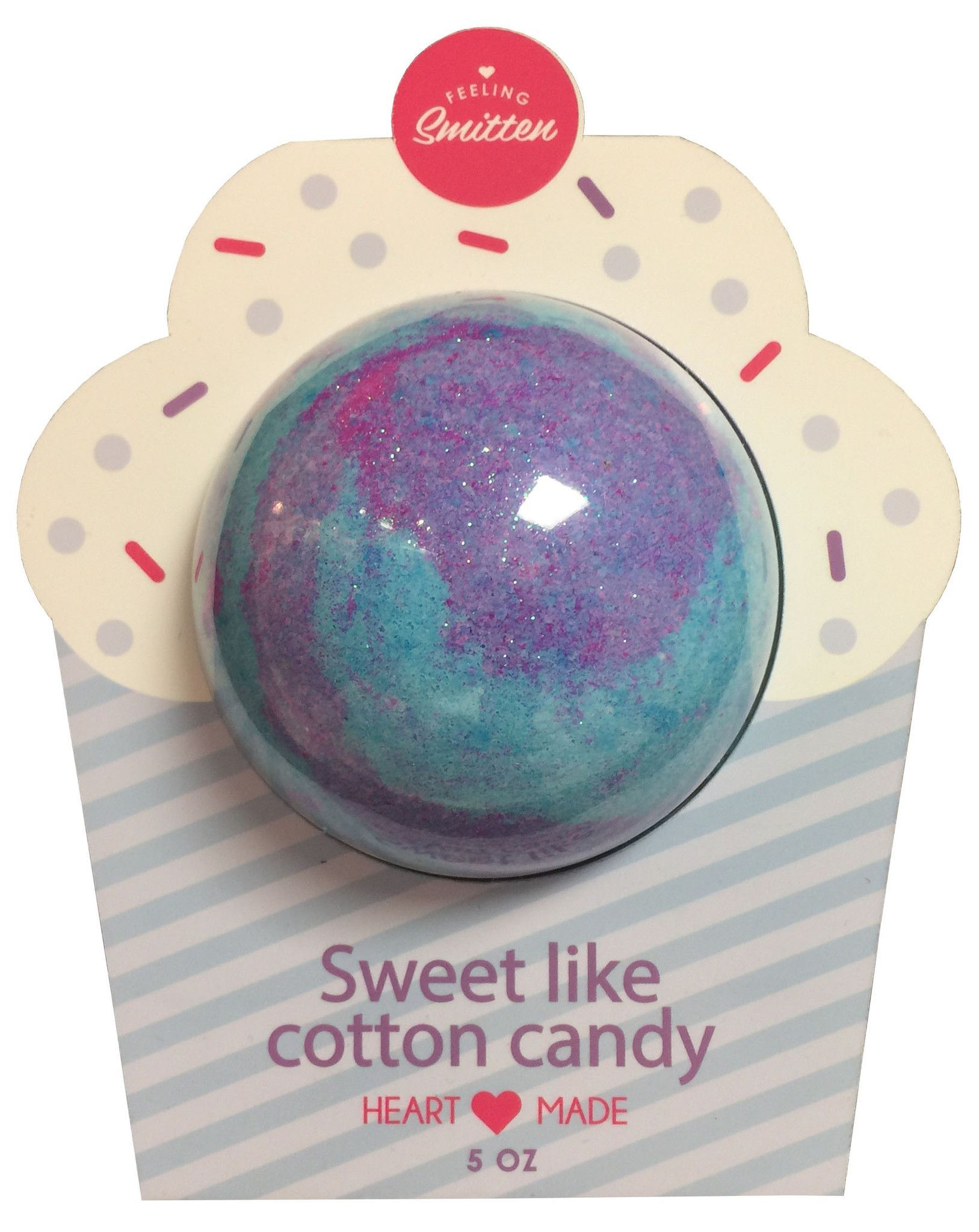 """You're a dandy Cotton Candy"" Cotton Candy Bath Bomb (Clamshell Packaging)"