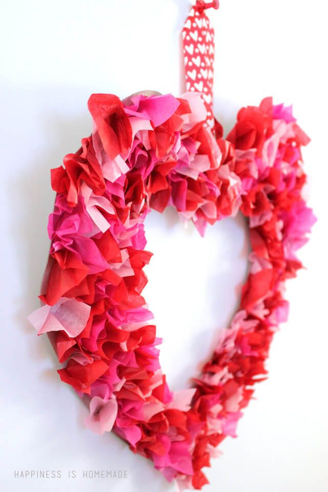 55 Diy Valentine S Day Wreaths To Welcome The Wind Of Love Craft