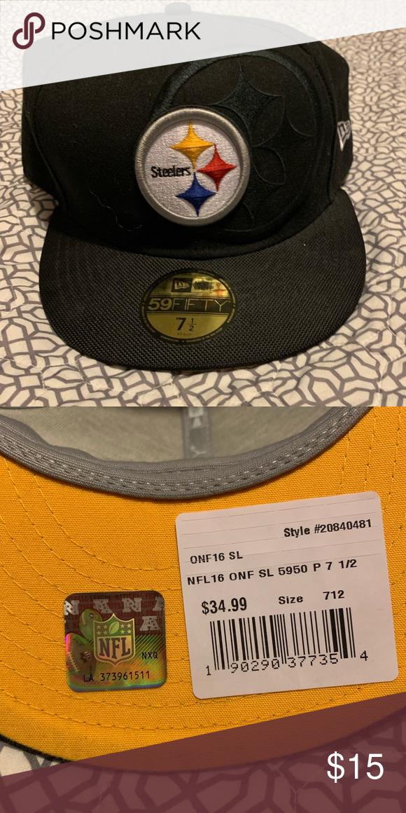 Steelers Hat Size 7 1 2 Steelers Hats Nfl Accessories Flat Bill Hats