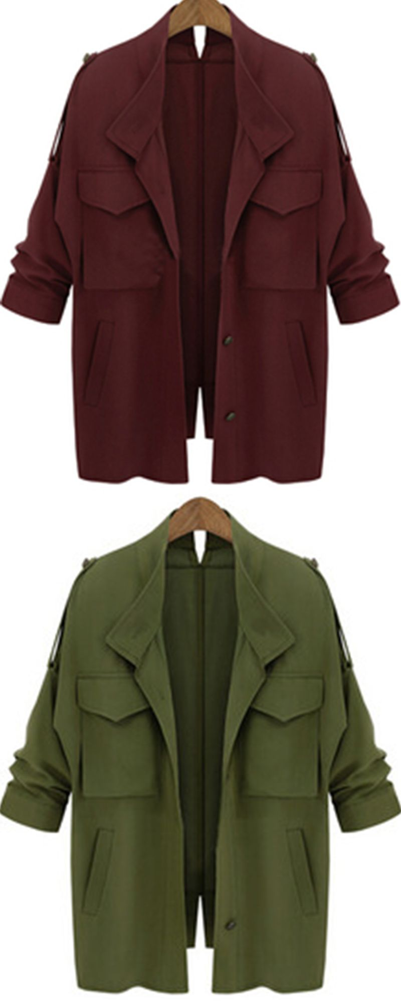 9bdf4a515e1 What i could buy with best price.Women fashion collection-Long sleeve  pocket loose coat. Give you a wonderful fashion coat!