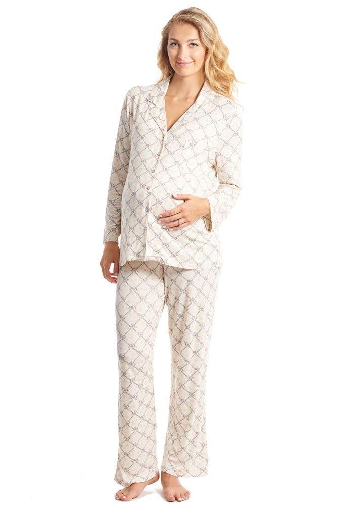 Everly Grey  During /& After Maternity Nursing Helena Blue Sleepwear Pajama Set