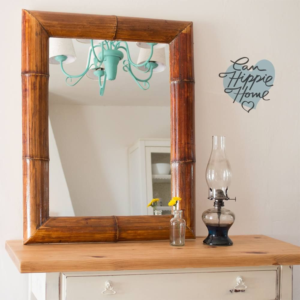 Espejo luiso marco del bamb del jard n de un amigo acabado en resina epoxi para la m xima - Espejos de resina ...
