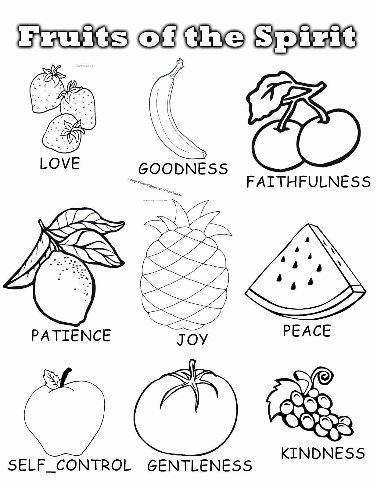Fruits Coloring Worksheets For Kindergarten In