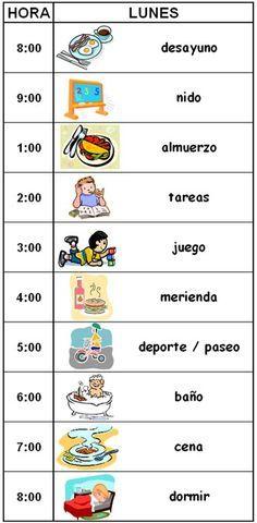 Horas De Dormir I Comer Bebe De 8 Meses Buscar Con Google Horario Para Niños Calendario Para Niños Tareas Para Niños