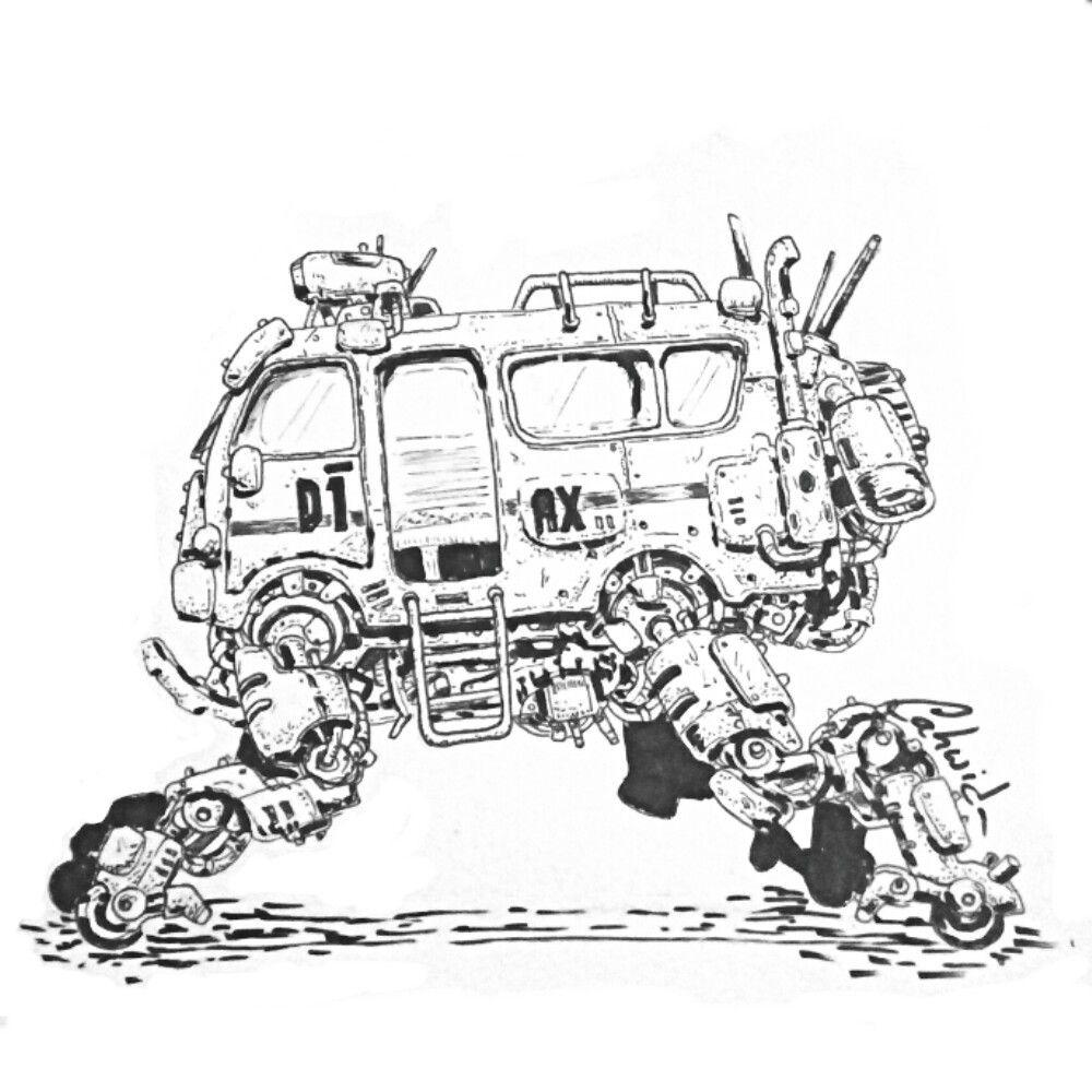 Angkot D1 Ax Cirebon Post Apocalyptic Style Doodle Cahwid