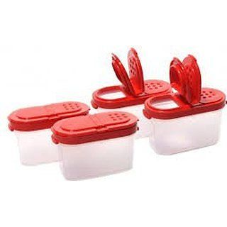 Tupperware Small SPICE Modular Mates SET NEW Red Seals