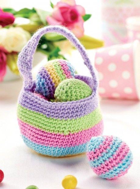 Crochet easter basket free knitting patterns crochet easter crochet easter basket free knitting patterns crochet easter easter baskets and knitting patterns negle Images