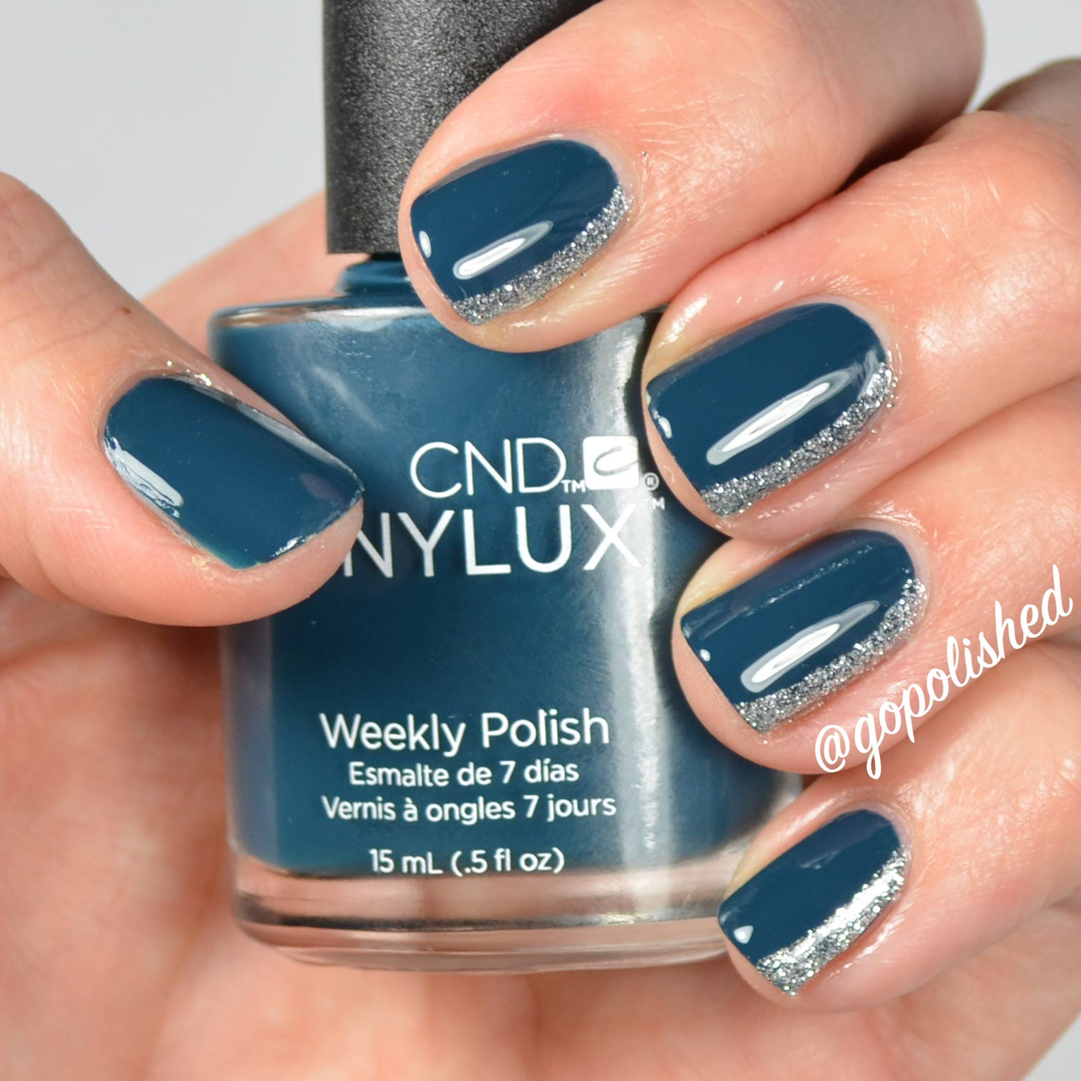 Simple and easy side french nail tutorial! Used CND Couture Covet ...