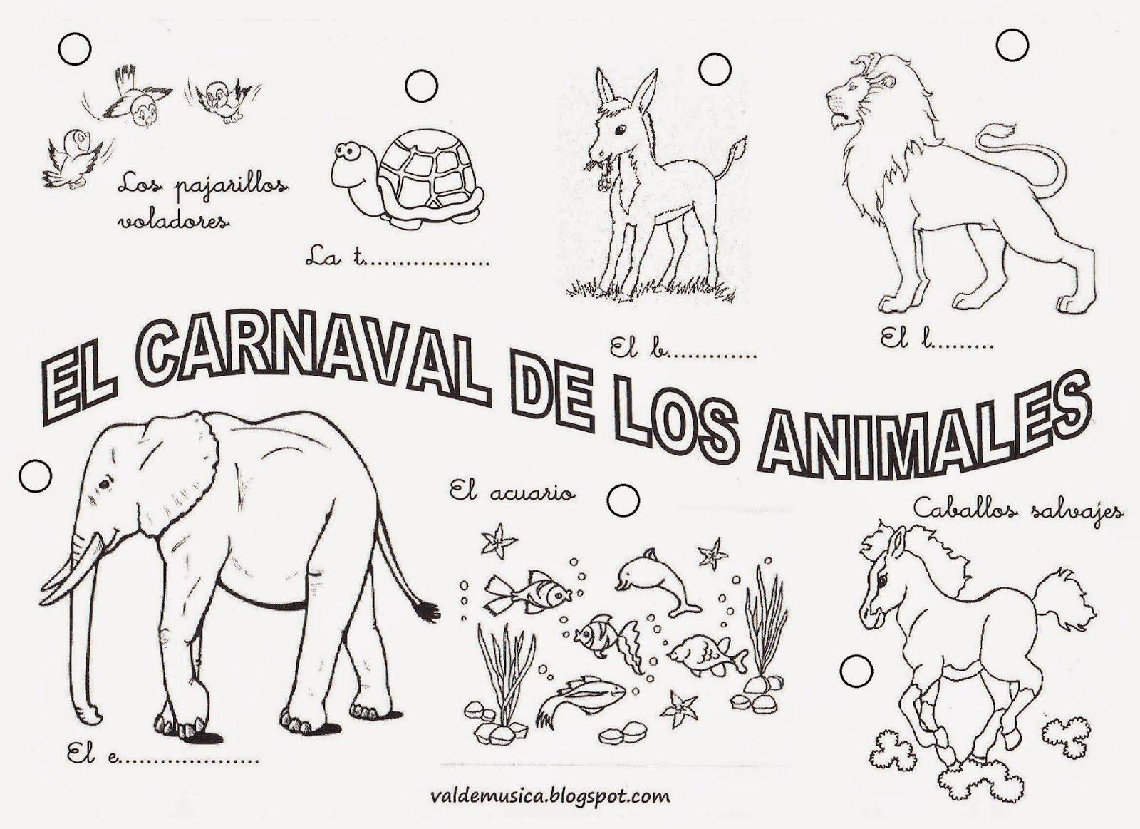 VALDEMÚSICA: EL CARNAVAL DE LOS ANIMALES DE CAMILLE SAINT-SAËNS ...