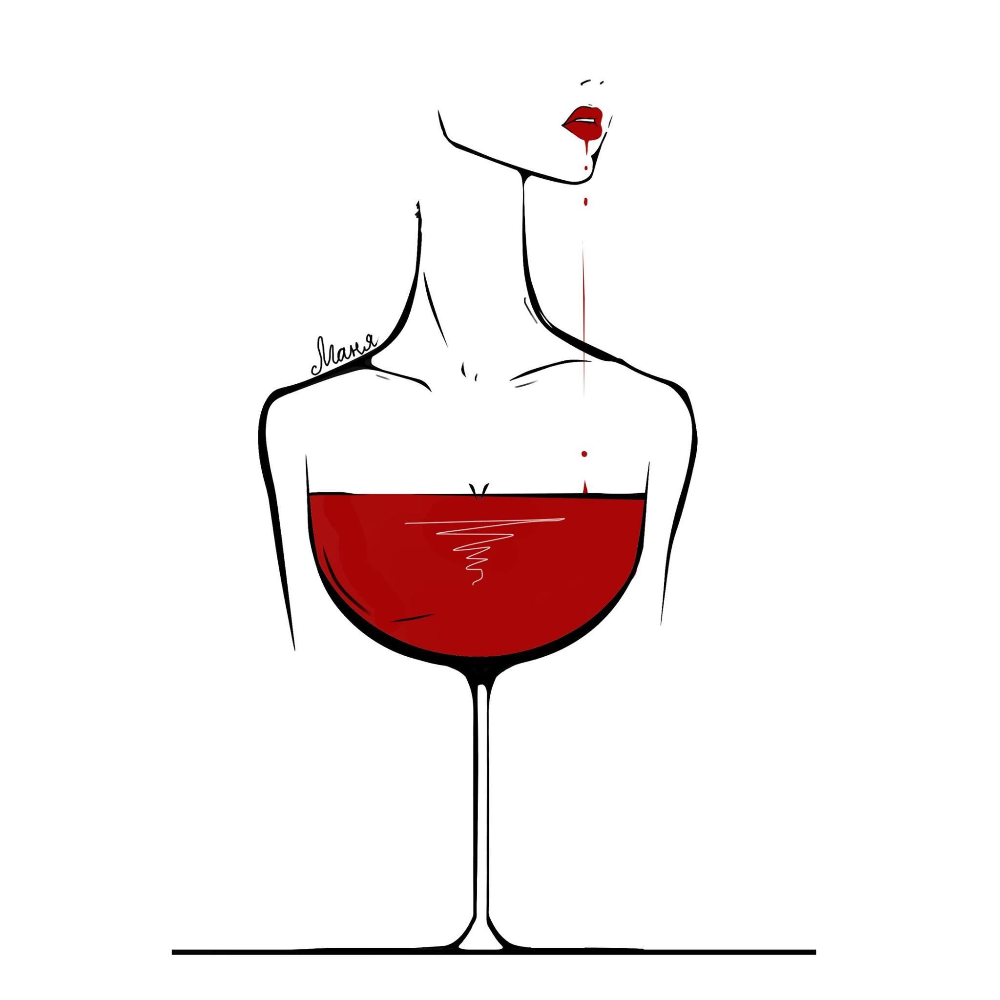 Pin By Artur Kopanko On Art Wine Art Line Art Drawings Wine Glass Art