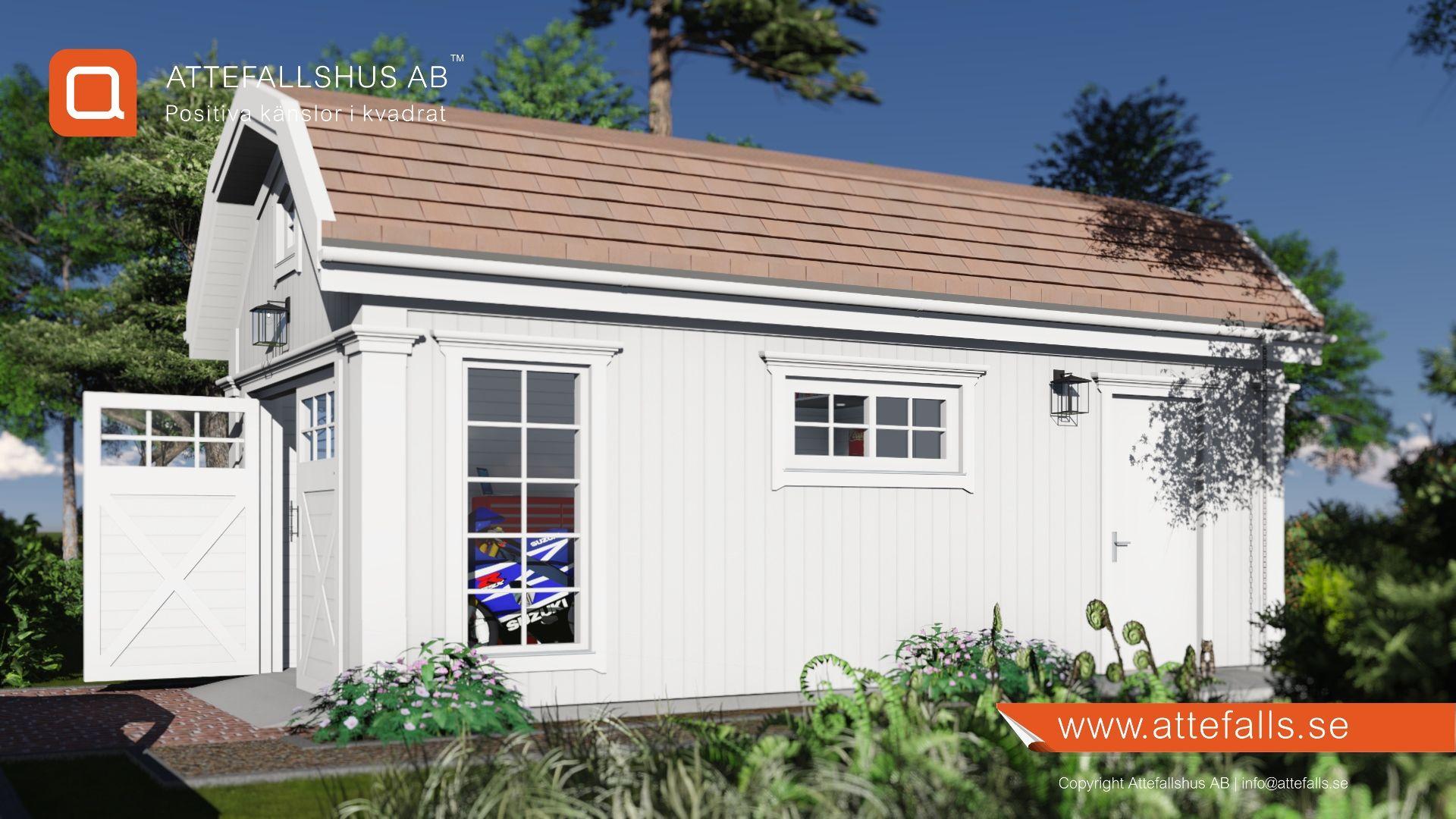 Attefallshus New England Garage Attefallshus Newengland