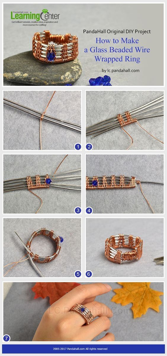 PandaHall Original DIY Project C How to Make a Glass Beaded Wire ...