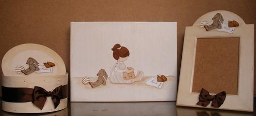 Cuadros infantiles siluetas de madera cajas de madera - Siluetas madera infantiles ...