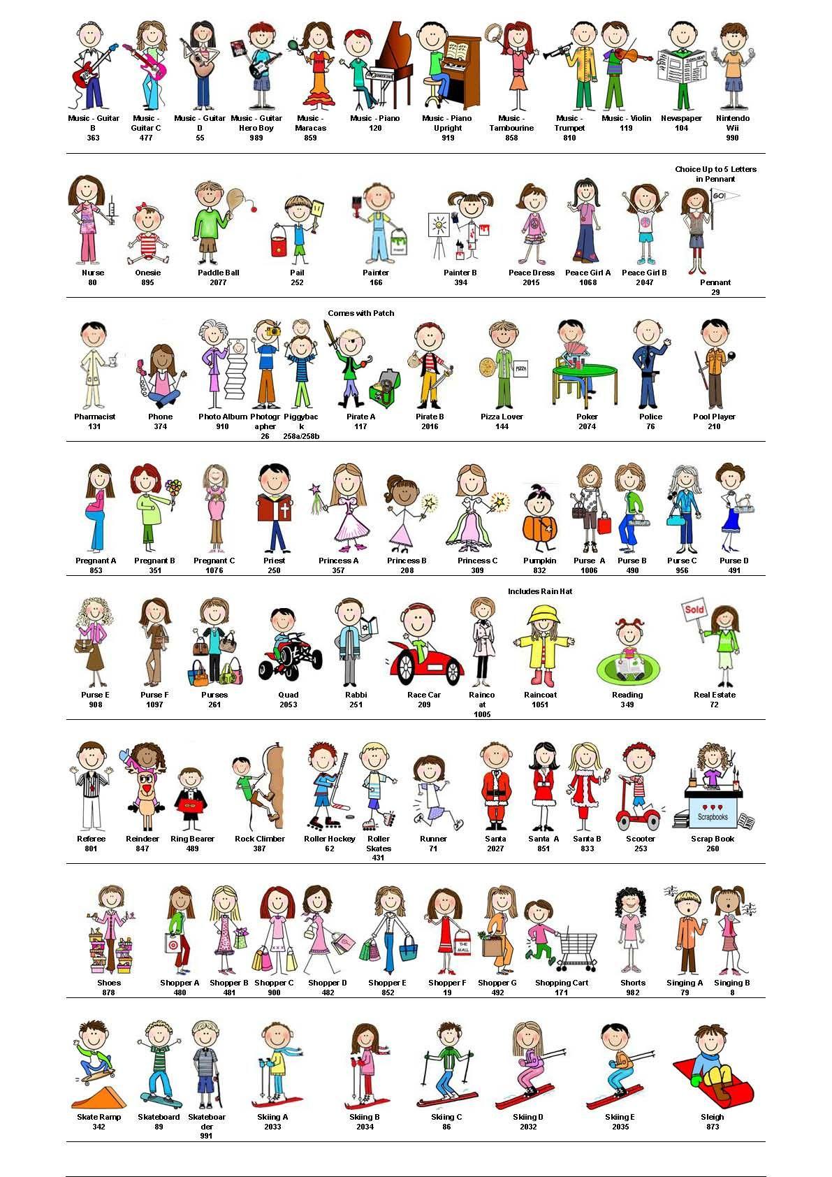 stick figure body selections | イラスト他 アイデア | pinterest