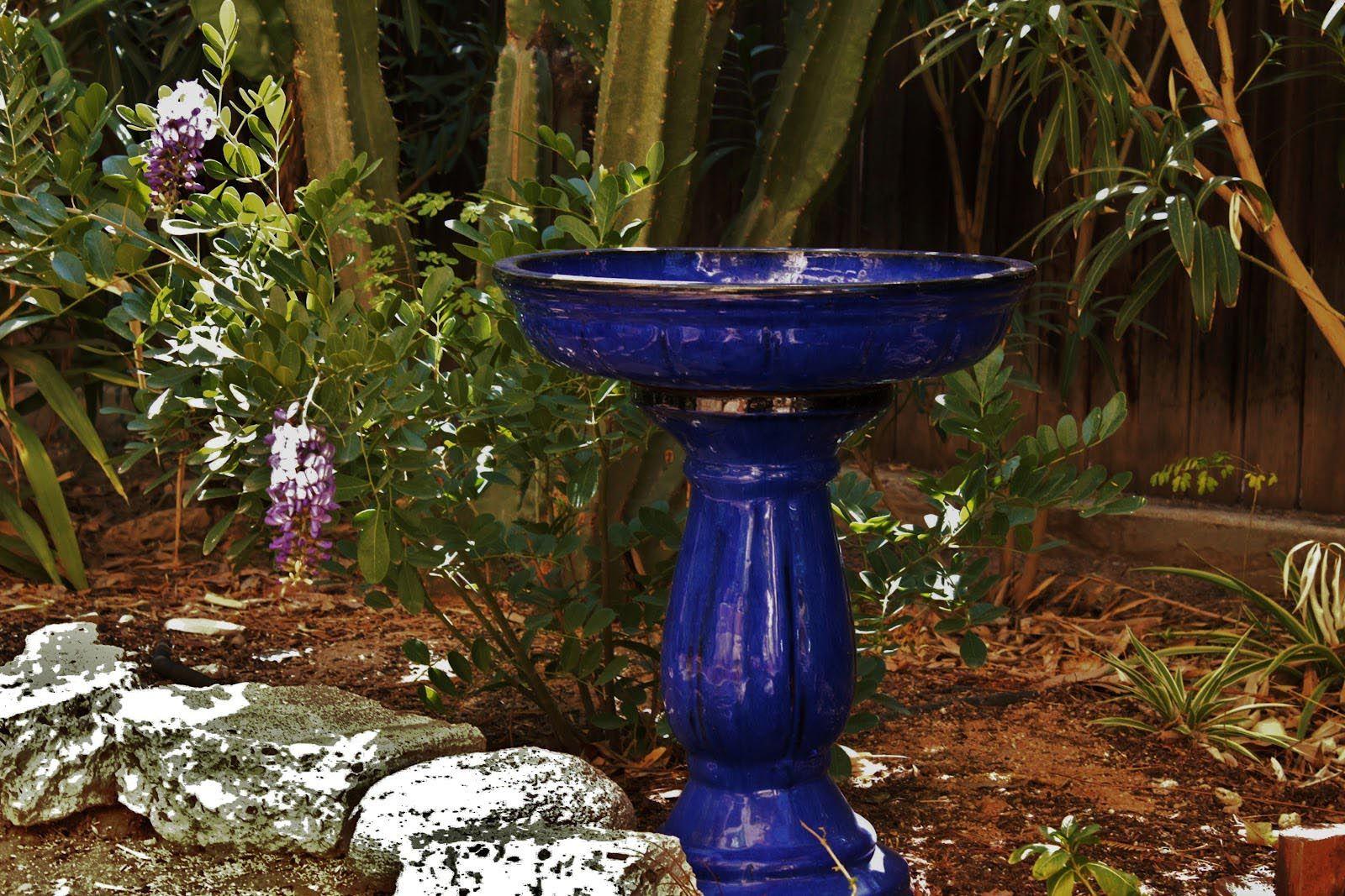 Cobalt Blue Ceramic Bird Bath Bird Bath Ceramic Bird Bath Diy Bird Bath