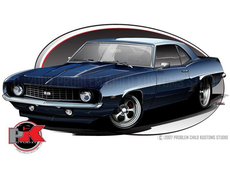Best Cartoon Cars Images On Pinterest Cartoon Art Muscle